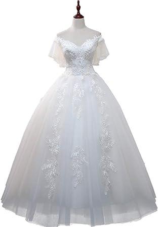 SHANYUR Robe De Mariée De Mariage Une Épaule