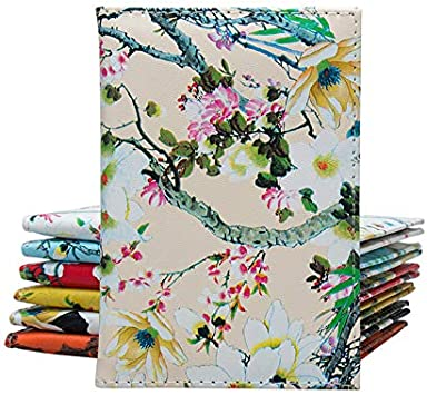 Gifts UK/® /Étui de Passeport en Cuir PU Motif Fleurs Beige Beige Moyen