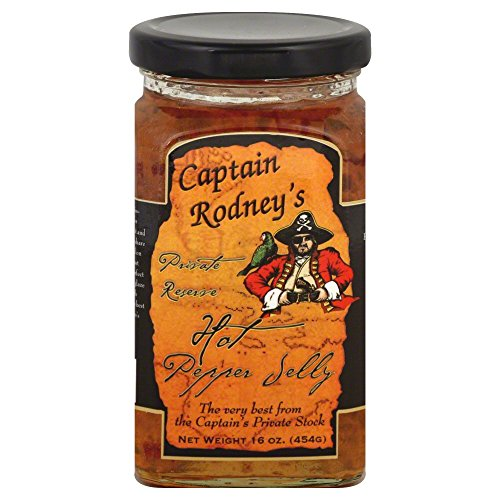 Captain Rodney's Private Reserve Jelly, Hot Pepper, 16.0 Ounce