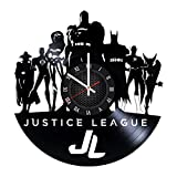 Cheap Superhero Bedroom Vinyl Record JUSTICE LEAGUE Wall Clock – Get unique room decor – Gift ideas for men, boys and girls – Unique DC COMICS fan art design – Leave us a feedback and win your custom clock