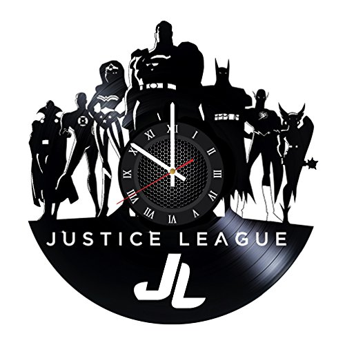 Superhero Bedroom Vinyl Record JUSTICE LEAGUE Wall Clock - G
