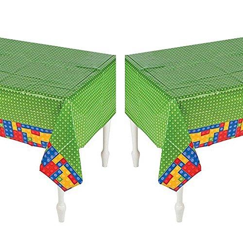 Plastic Color Brick Party Tablecloth