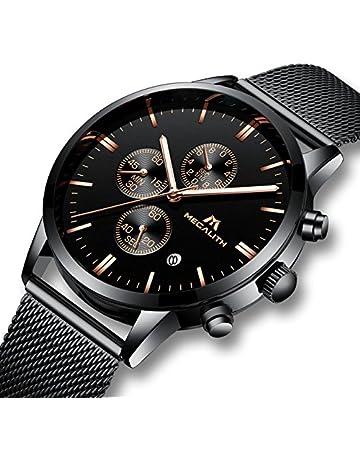 c6be2ea4f23 Mens Watches Men Waterproof Sport Chronograph Luminous Mesh Stainless Steel  Wrist Watch Luxury Business Date Analogue