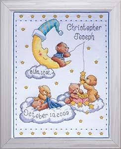 Tobin - Muestrario de punto de cruz, diseño de osos, multicolor