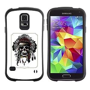 "Pulsar iFace Series Tpu silicona Carcasa Funda Case para Samsung Galaxy S5 , Pluma india del tocado del nativo americano"""