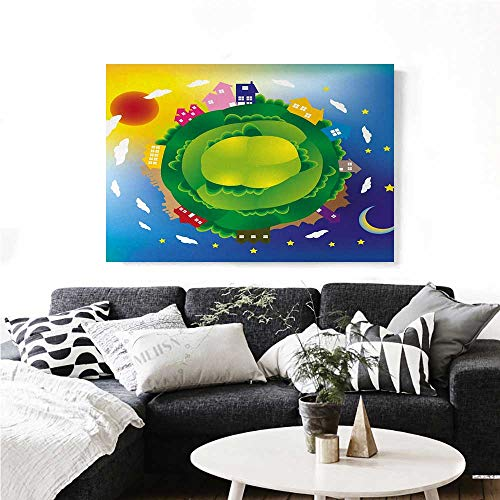 homehot Earth Modern Canvas Painting Wall Art Cartoon for sale  Delivered anywhere in Canada