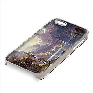Bierstadt - Lake Tahoe, Custom Claro PC Ultradelgado Caso Duro Carcasa Funda Protección Tapa Hard Case Cover Shell con Diseño Colorido para Apple iPhone 5 5S.