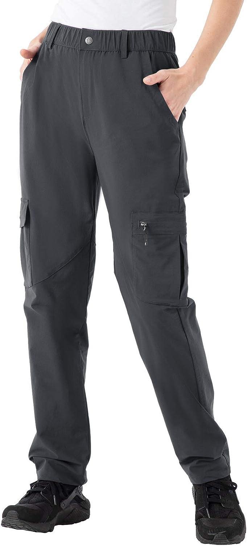 Rdruko Women's Hiking Pants Water-Resistant Quick Dry UPF 50 Travel Camping Work Pants Zipper Pockets: Clothing