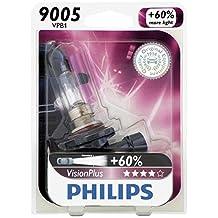 Philips 9005 VisionPlus Upgrade Headlight Bulb, 1 Pack