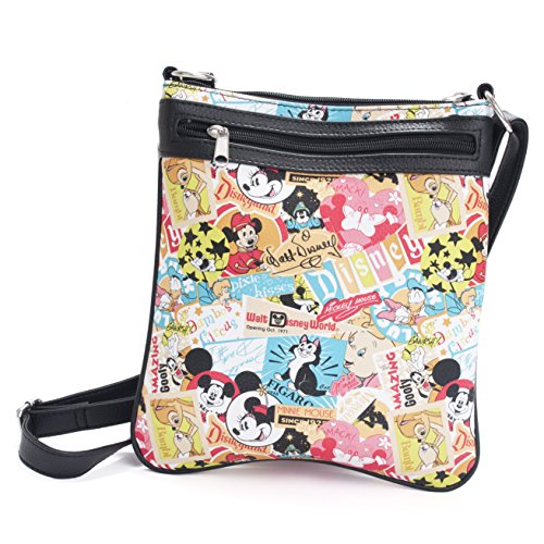 Disney Parks Exclusive Mickey Mouse Classic Collage Pattern Crossbody Bag Purse - Exclusive Mickey Mouse