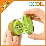 Godil® - Taglia kiwi in acciaio inossidabile, sbuccia e taglia frutta e verdura, indispensabile in cucina verde