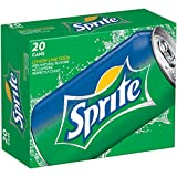 Sprite Lemon Lime Soda Soft Drinks, 12 fl oz, 20 Pack