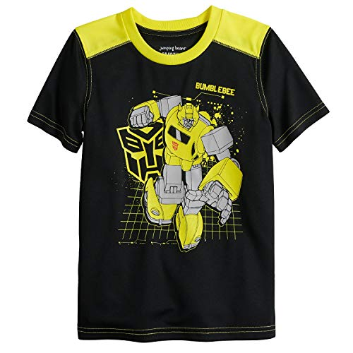 Jumping Beans Boys 4-12 Transformers Bumblebee Active Graphic Tee 6 Black/Yellow