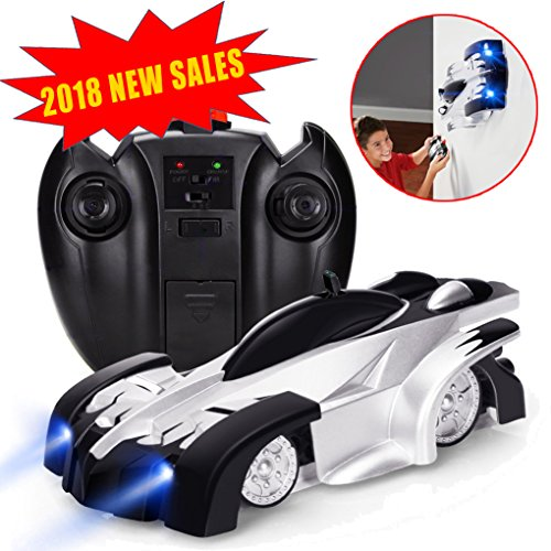 J-Deal Remote Control Car RC Car Mini Climbing Vehicle with Radio Control, Dual Mode 360° Rotating Stunt Car, White