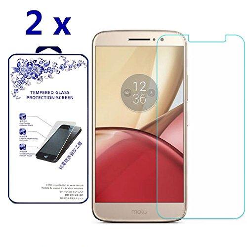 [2-Pack] Motorola Moto M Glass - Genuine 9h Tempered Hardness Glass Screen Protector ([2 Pack] For Motorola Moto M)