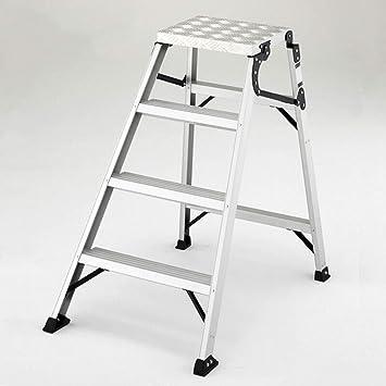 JU FU Taburete de paso, La escalera del hogar de heces Plataforma Escalera de Aluminio Ingeniería escalera plegable móvil Workbench Dos Escalera plegable de tres Escalera plegable 4 Escalera plegable: Amazon.es: Bricolaje