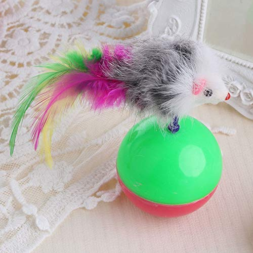 Amazon.com : Best Quality 1pc Plastic pet cat Supplies Funny Playing Toy False Mouse Ball Feather Activity : Pet Supplies