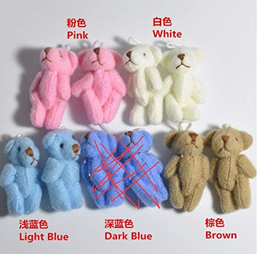 EXTOY Wholesale 100Pc/Lot 3.5Cm/4.5Cm Mini Joint Bear Teddy Bear Doll Cell Phone Pendant ,Mini Joint Plush Keychain Bear Bouquet Toy Kids Boy Must Haves Girl S Favourite from EXTOY