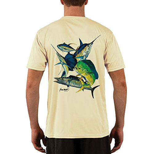Offshore Collection - Kevin BRANT Offshore Montage Men's UPF 50+ Short Sleeve T-Shirt Large Pale Yellow