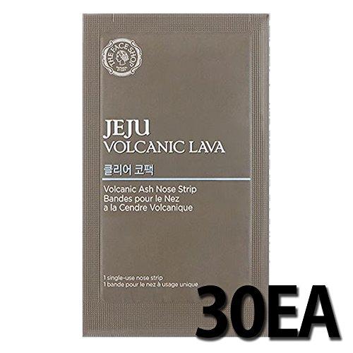 30EA THE FACE SHOP Jeju Volcanic Lava Volcanic Ash Nose Strip by THEFACESHOP