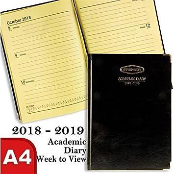 Premier - Agenda de año académico, A4, color negro, vista ...