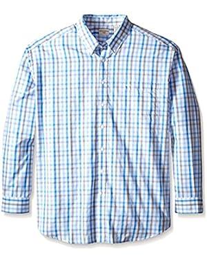 Men's Big-Tall Long Sleeve Button Down Collar Shirt