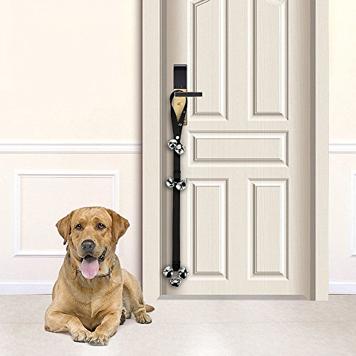 Large Product Image of Dog Doorbells Premium Quality Training Potty Great Dog Bells Adjustable Door Bell Dog Bells for Potty Training Your Puppy the Easy Way - Premium Quality - 7 Extra Large Loud 1.4 DoorBells by papikin
