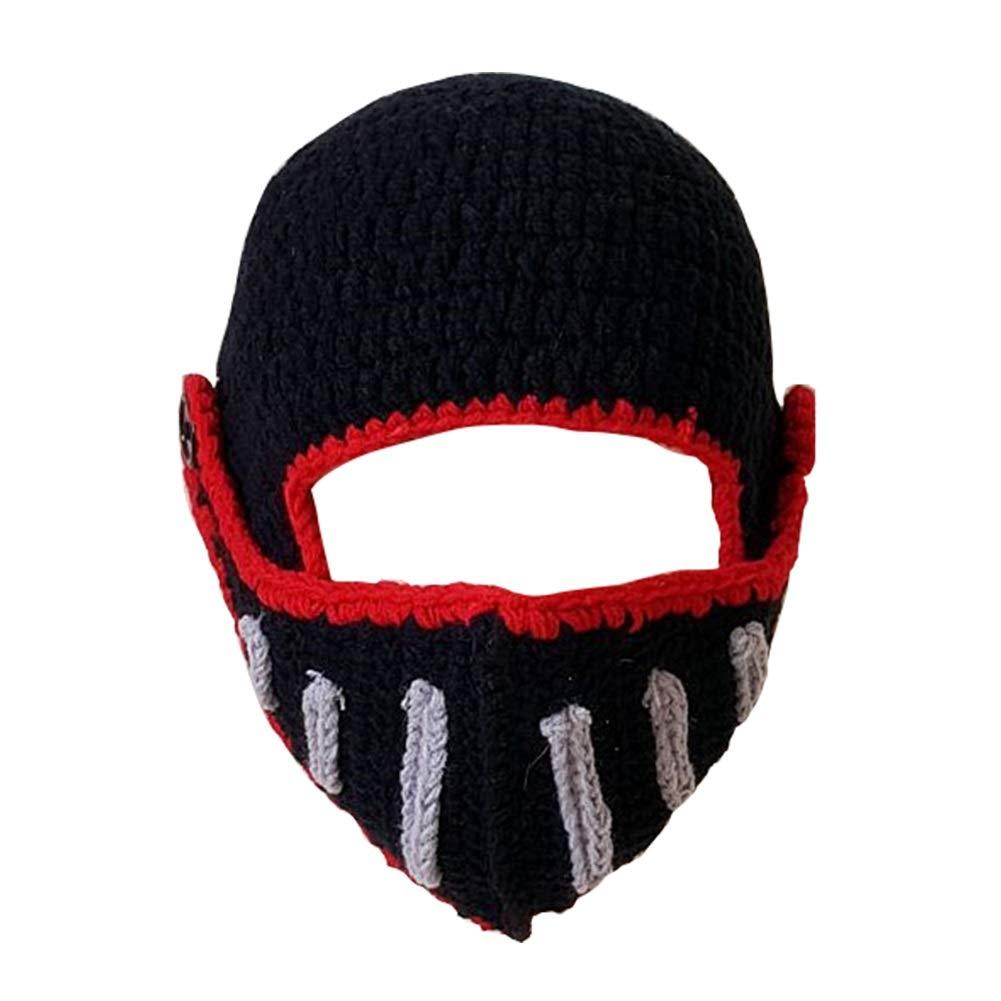 Amazon Roman Knight Helmet Unisex Knit Stubble Beard Beanie