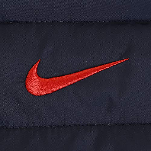Nike Kids Boy's Quilted Jacket (Little Kids) Obsidian/University Red 4 US Little Kid by Nike (Image #6)