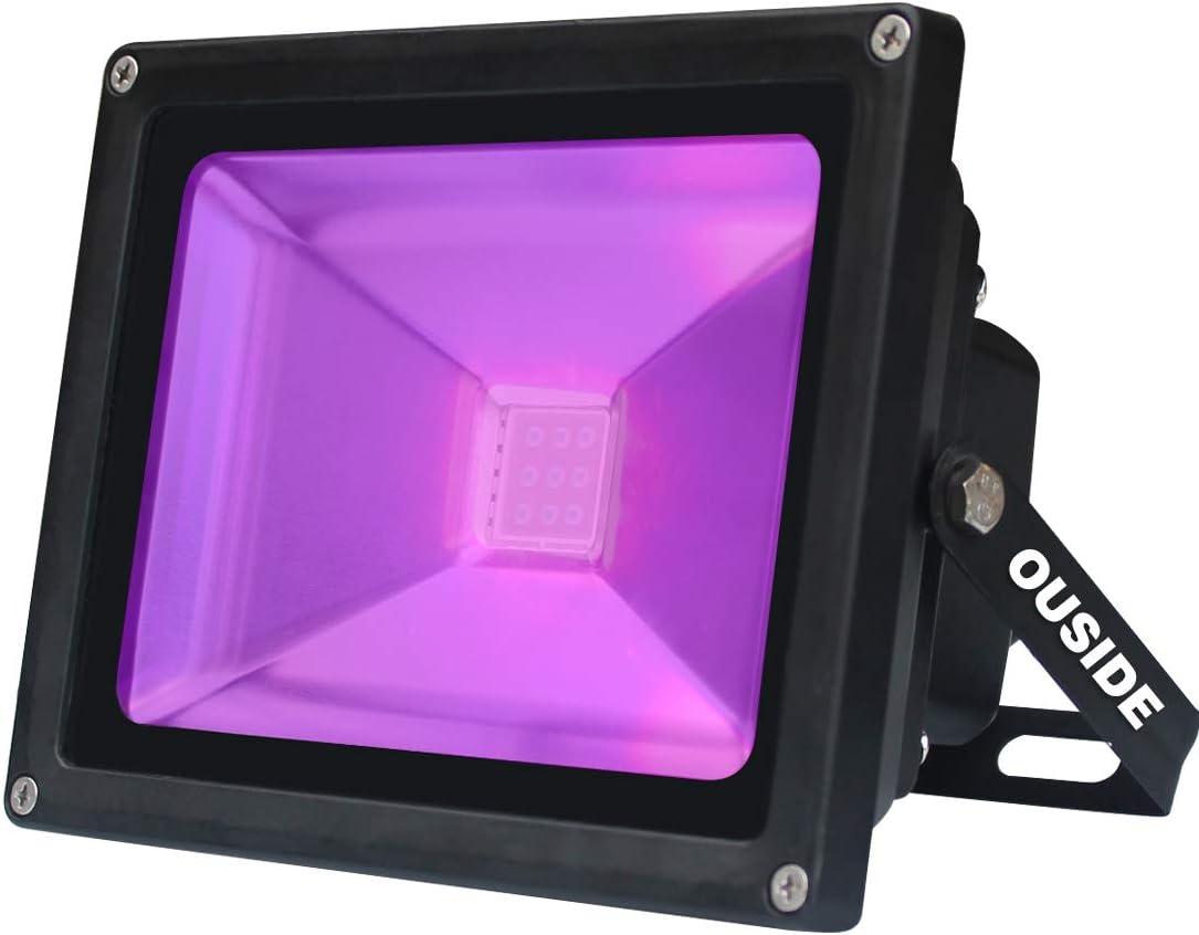 UV LED luz negra, violeta 20W LED luz de la etapa, 395-400nm inundación IP65 impermeable