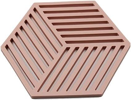 Alfombrillas de silicona hexagonales Posavasos de patrones ...