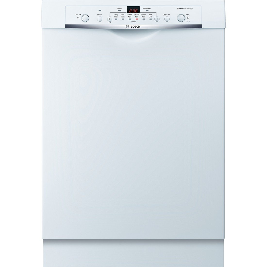 Bosch SHE3AR72UC Ascenta 24' White Full Console Dishwasher - Energy Star
