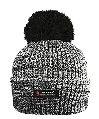923224f2a RockJock R40 Thermal Insulation Ladies Marl Bobble Hat with Fleece Lining