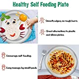 Stainless Steel Plates Set of 4, E-far 8-inch Metal Dinner Plates for Kids Toddlers, Great for Self-Feeding/Picnic/Outdoor Camping, Healthy & Non-Toxic, Shatterproof & Dishwasher Safe