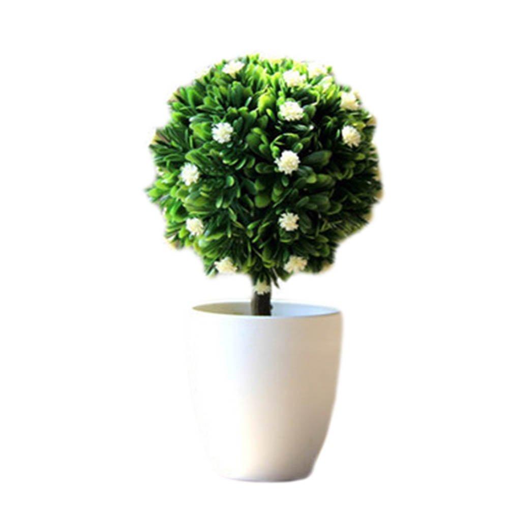 ジョージジミー人工プラスチックミニ植物Grass Flower withポットのホーム装飾、a13 B07FQLDMKC