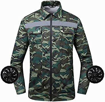 Camisa de refrigeración Alta Temperatura Trabajo al aire libre Aire acondicionado Ropa resistente al calor del ventilador de refrigeración de la chaqueta de soldadura táctico Pesca Senderismo chaqueta: Amazon.es: Hogar