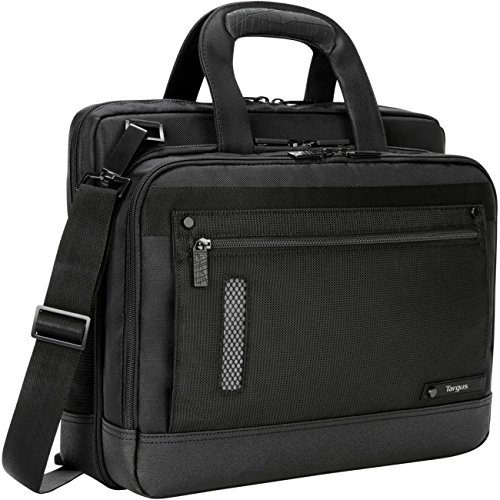 """Targus Revolution Ultra-Thin Checkpoint-Friendly Briefcase for 13.3-14"""" Laptops, Black, TTL224"""