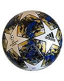 adidas UCL Finale 19 Capitano Soccer Ball, White/Football Blue/Black/Gold Metallic, 5