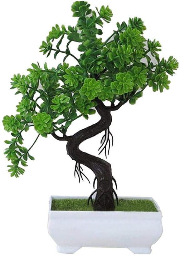 Bonsai Artificielle Faux plante en pot plantes accessoire de bureau vert Bonsa/ï petite plante verte fausse d/écoration de fleur