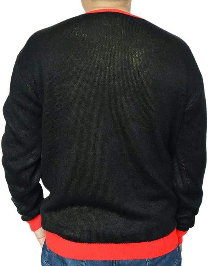 GOKIEOCE Mens Dabbing Christmas Unicorn Cotton Crewneck Sweater Ugly Christmas Long Sleeve Knit Sweatshirt