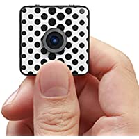 Foxshot World Lightest 32g water-resistant Action Camera : Stickable (Glass, Wood, Marble) Polychrome, Wearable, Multiple Skin, 1080P HD Magnetic with App Live Video, 32G Capacity, 100min record