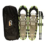 New MTN Extreme Lightweight All Terrian Man Woman Kid Teen Snowshoes +Pole + Free Bag (30inch)