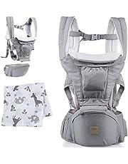 BELLY BOON Babydrager voor pasgeborenen vanaf de geboorte, ergonomische draagzak van hoogwaardig katoen met flexibel draagsysteem voor vrouwen en mannen, grijs