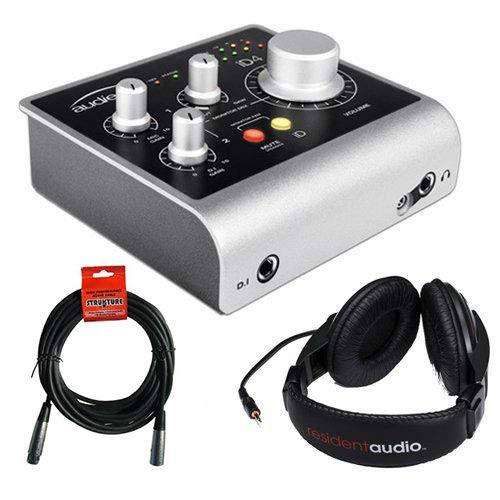 Audient iD4 High-Performance USB Audio Interface with R100 Stereo Headphones and XLR-XLR Cable (Best Interface For Reaper)