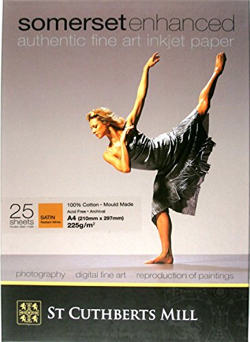 Saa Satin (Somerset Enhanced Fine Art Inkjet Paper - Satin (297x210mm) - 25 sheets)