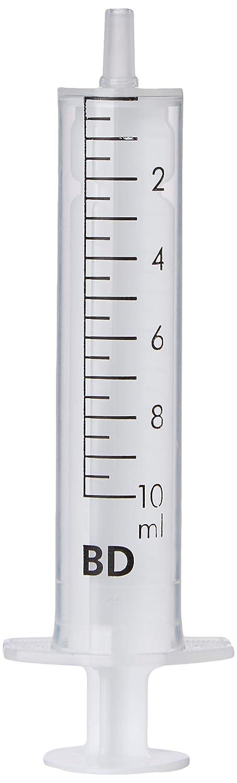 Jeringa hipodérmica de plástico desechable estéril de 10 ml (paquete de 10)