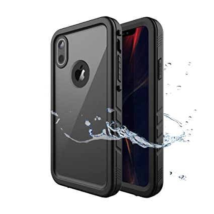 buy online ef099 44fde iPhone XR Waterproof Case, Waterproof iPhone XR Shockproof Full-Body Rugged  Cover Case with Built-in Screen Protector for Apple iPhone XR 6.1 Inch ...