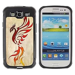 Suave TPU GEL Carcasa Funda Silicona Blando Estuche Caso de protección (para) Samsung Galaxy S3 III I9300 / CECELL Phone case / / Dragon Phoenix Bird Ashes Red Decal /