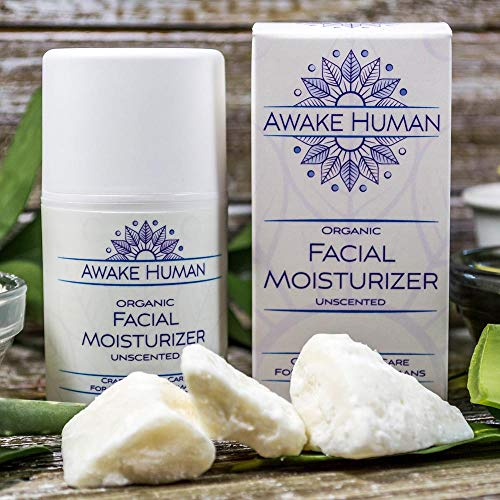 51QO482S%2BbL - Organic Face Moisturizer, Unscented Natural Face Cream for Every Skin Type, Mostly Aloe, Jojoba, Green Tea, Shea Butter, Sweet Almond, 1.7 Ounces