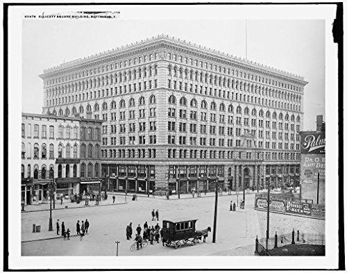Vintography 16 x 20 Ready to Hang Canvas Wrap Ellicott Square Building Buffalo N Y 1900 Detriot Publishing 35a